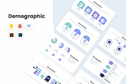 PPT Demographic Infographics Templates for PowerPoint, Keynote, Google Slides, Adobe Illustrator, Adobe Photoshop