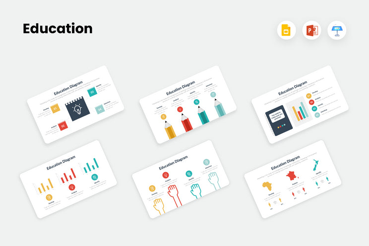 PPT Education Diagrams Templates for PowerPoint, Keynote, Google Slides