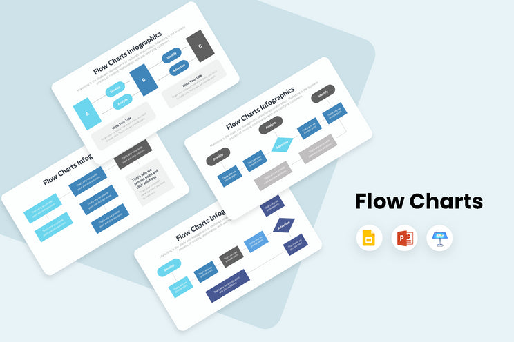 PPT Flow Charts Infographics Templates for PowerPoint, Keynote, Google Slides