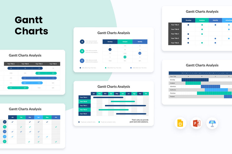 PPT Gantt Charts Diagrams Templates for PowerPoint, Keynote, Google Slides