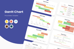 PPT Gantt Chart Infographics Templates for PowerPoint, Keynote, Google Slides, Adobe Illustrator, Adobe Photoshop
