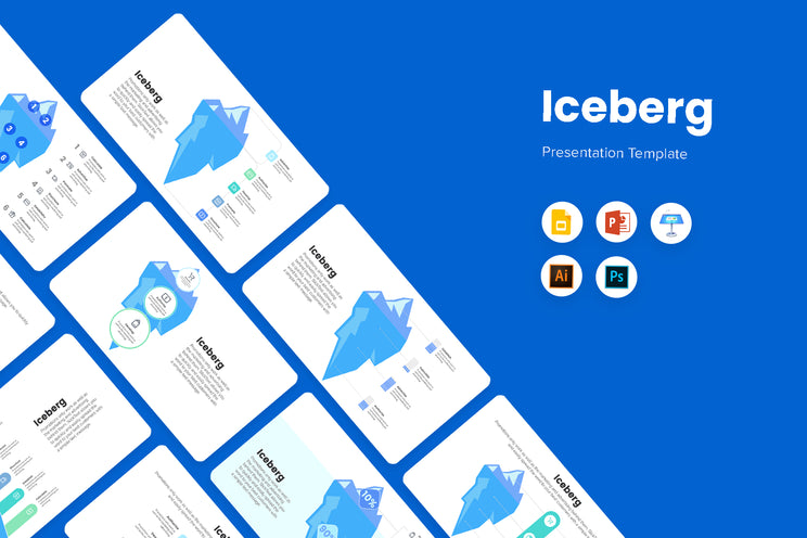 PPT Iceberg Infographics Templates for PowerPoint, Keynote, Google Slides, Adobe Illustrator, Adobe Photoshop