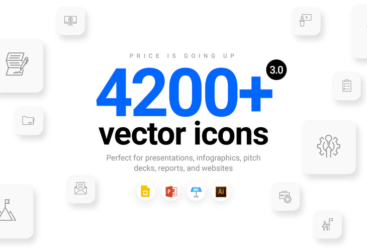 4200+ Vector Icons (Free Updates)