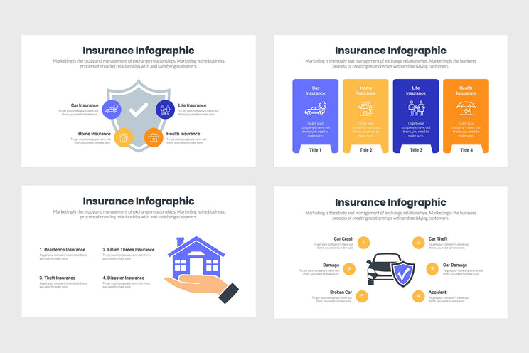 PPT Insurance Infographics Templates for PowerPoint, Keynote, Google Slides