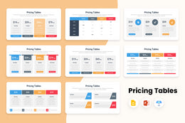 PPT Pricing Tables Infographics Templates for PowerPoint, Keynote, Google Slides