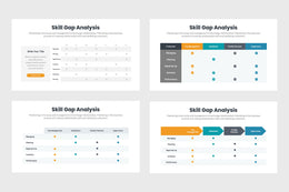 PPT Skill Gap Analysis Graph Templates for PowerPoint, Keynote, Google Slides