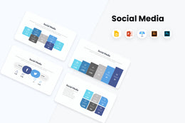 PPT Social Media Infographics Templates for PowerPoint, Keynote, Google Slides, Adobe Illustrator, Adobe Photoshop