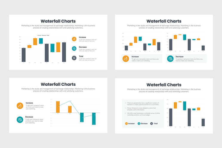 Waterfall Charts Infographics Templates for PowerPoint, Excel