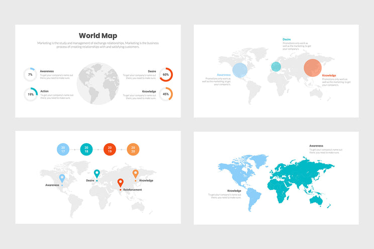 World Map Infographics Templates for PowerPoint, Keynote, Google Slides