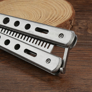 Stainless Steel Butterfly Knife Comb