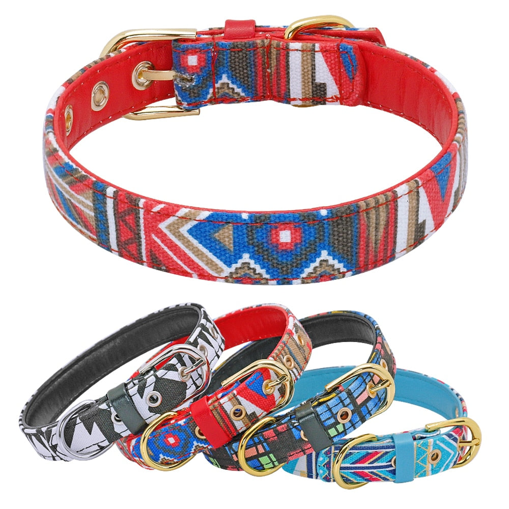 Printed Padded Small Puppy Collars