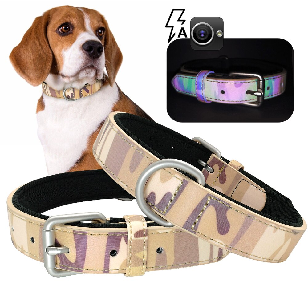 Leather Camo Collar