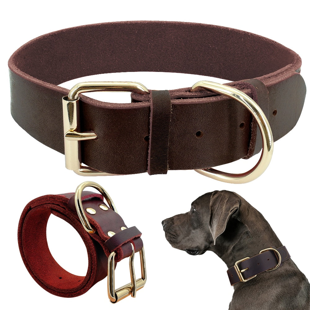 Genuine Leather Pet Collars