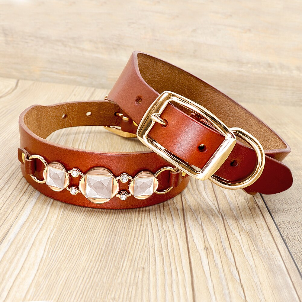 Fashion Leather Dog Collar
