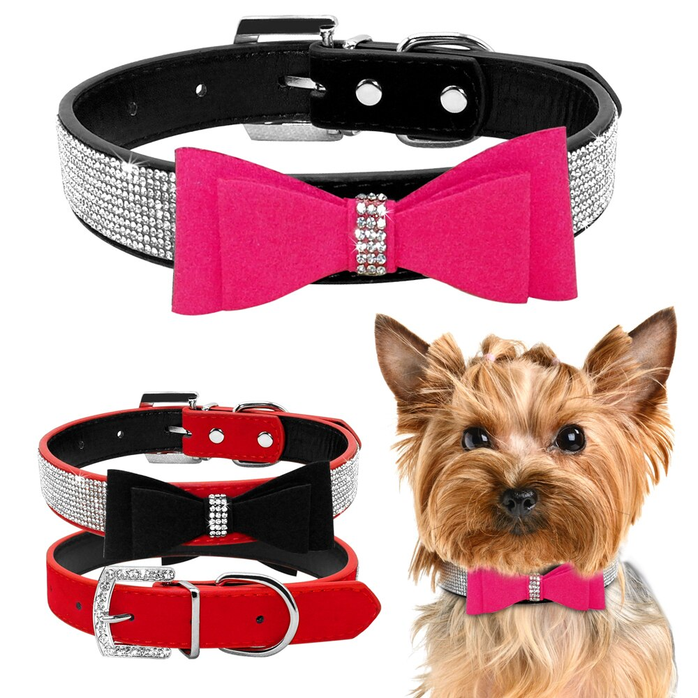 Rhinestone Collar For Small Dogs