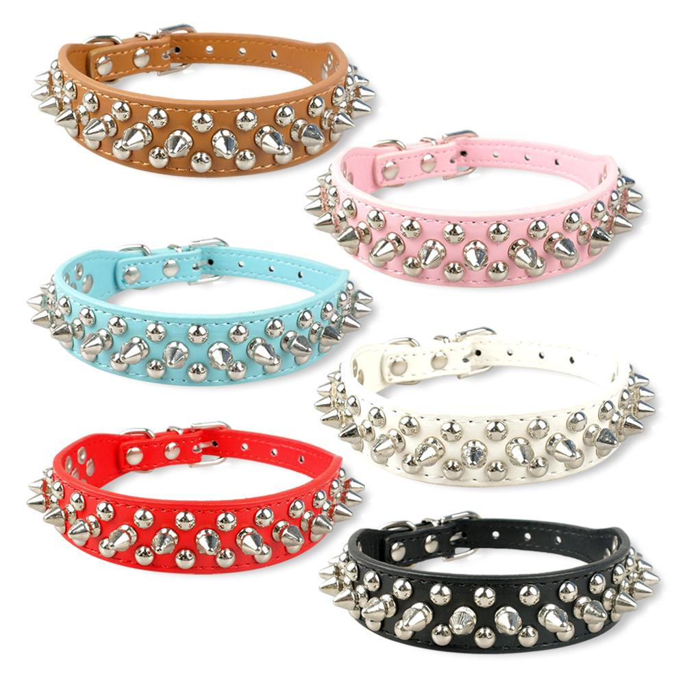 Studded Leather Collar for Small Dogs