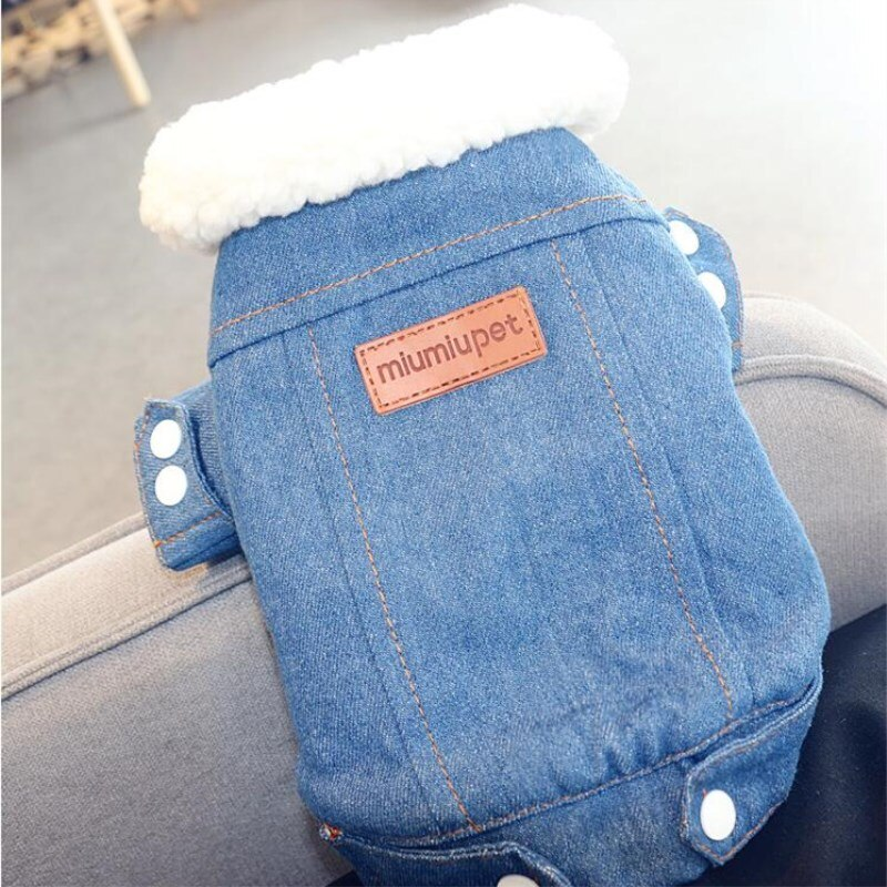 Lined Jean Jacket for Dogs