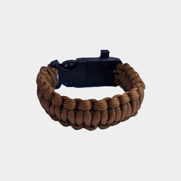 Pulsera paracord coyote de supervivencia