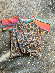 Girls Leopard with Serape Tee