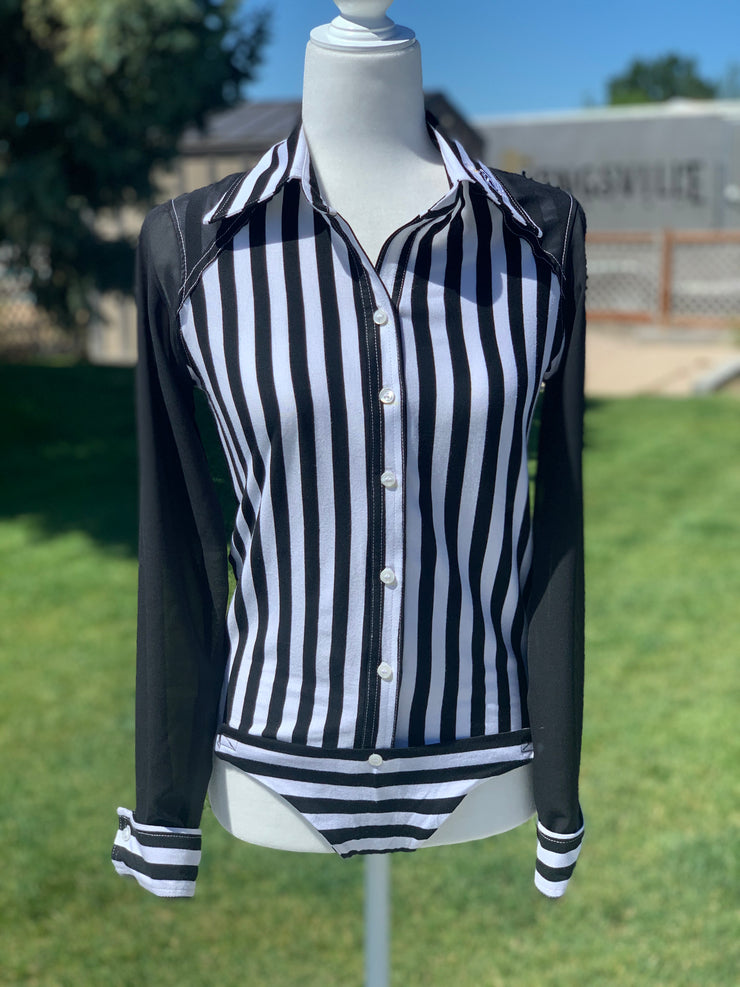 Black Stripe/Blouse sleeve