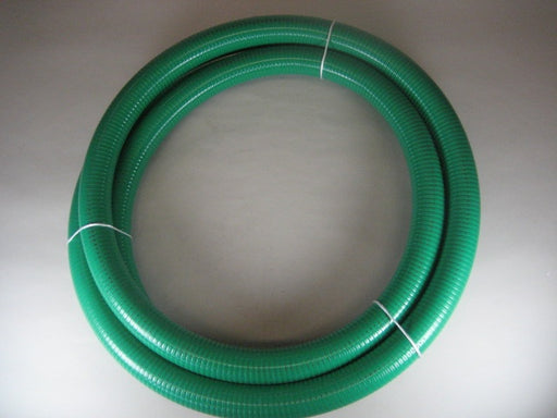 "2"" x 20' Suction Hose, Green PVC"