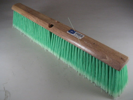 "24"" Green Flagged Plastic Floor Brush"