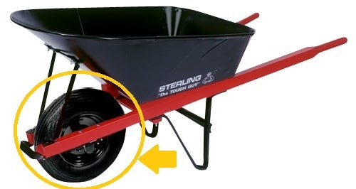 Wheelbarrow Wheel Assembly