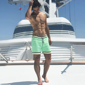 Green Swim Trunks - Lime Light