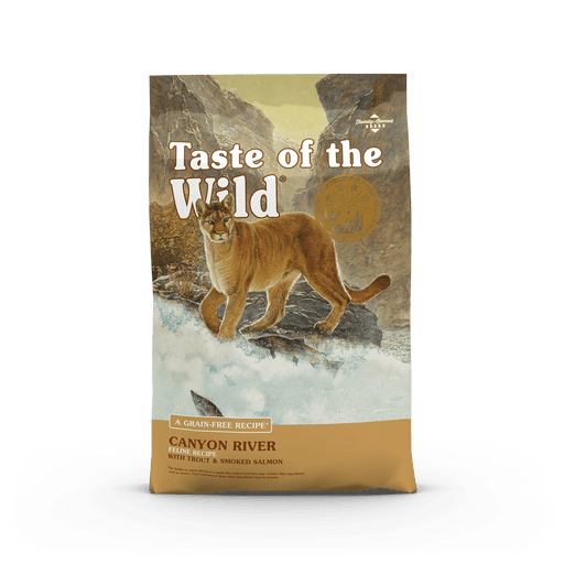 Taste of the wild canyon river nourriture pour chat 2.27 kg