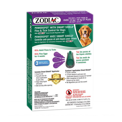 Zodiac smart shield powerspot chien de plus de 30 lb
