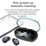 Xi11 TWS IPX6 Waterproof Bluetooth 5.0 Stereo Bluetooth Earphone with Charging Box, Support Battery Display & Summon Siri & Call (Black)