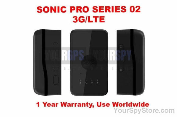 GPS Tracker - NEW SONIC PRO SERIES 02 (3G)(LTE) - Highly Durable Real Time GPS Tracker Car Truck Vehicle Tracking Device Worldwide Use Anti Theft Multi-Functional Built-in Battery & Antenna Battery Life Up To 2 Weeks