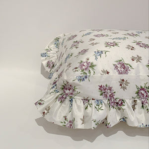 RUFFLED DOG PILLOW - VIOLET/BLUE CLUSTERS