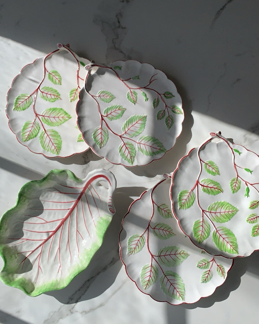 VINTAGE CABBAGEWARE SET WITH VINES
