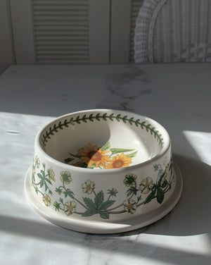 BOTANICAL SUNFLOWER DOG BOWL - SMALL