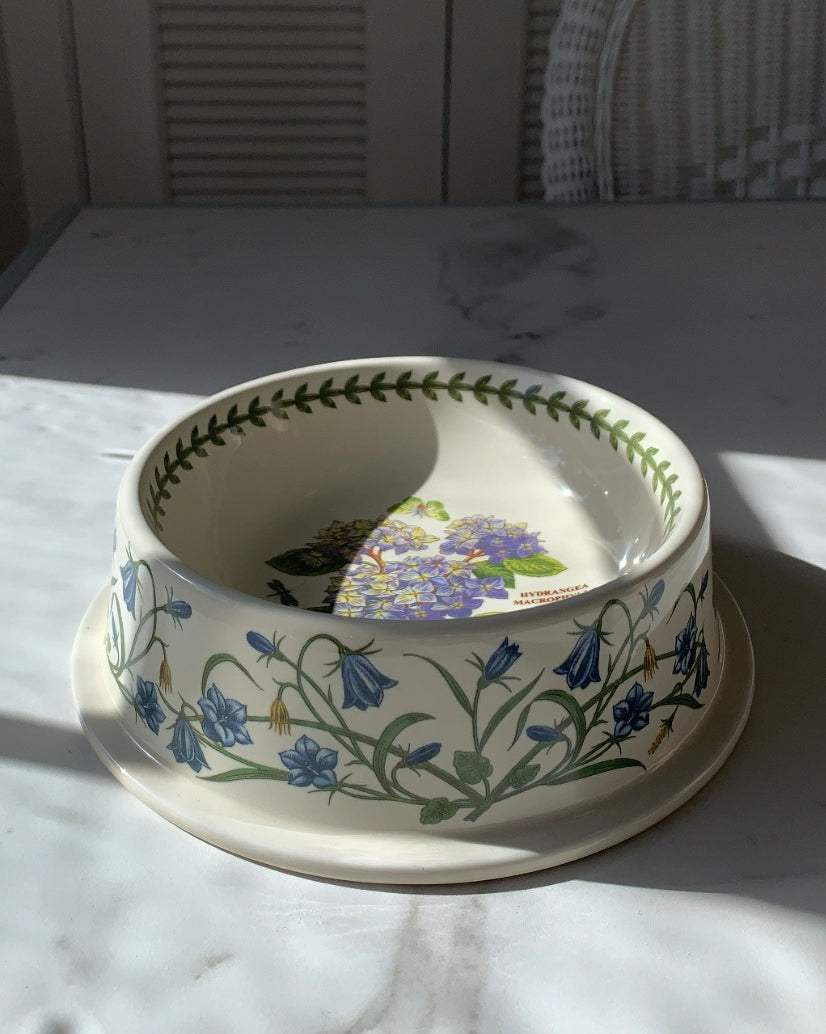 BOTANICAL HYDRANGEA DOG BOWL - LARGE