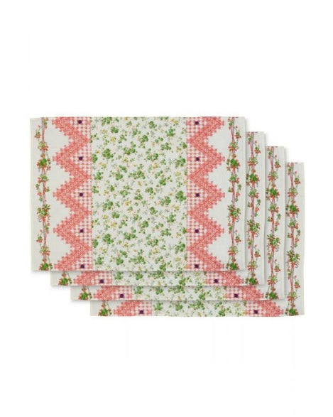 D'ASCOLI TIDEWATER PLACEMAT - GREEN SET 4
