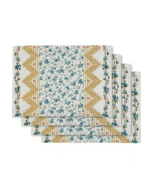 D'ASCOLI TIDEWATER PLACEMAT - BLUE/YELLOW SET 4