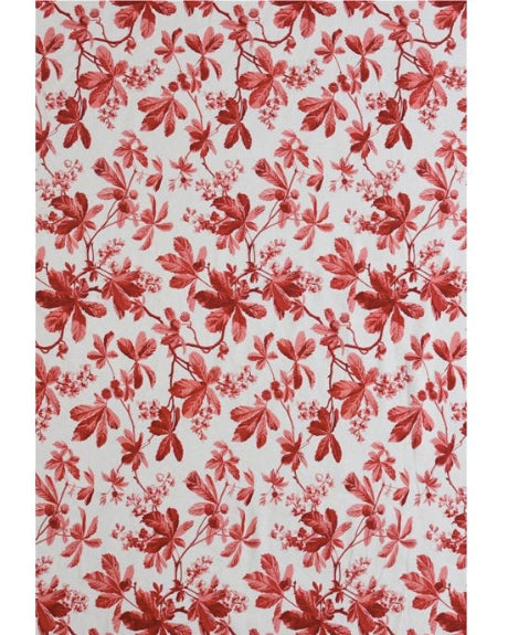 D'ASCOLI CHESTNUT TABLECLOTH - RED