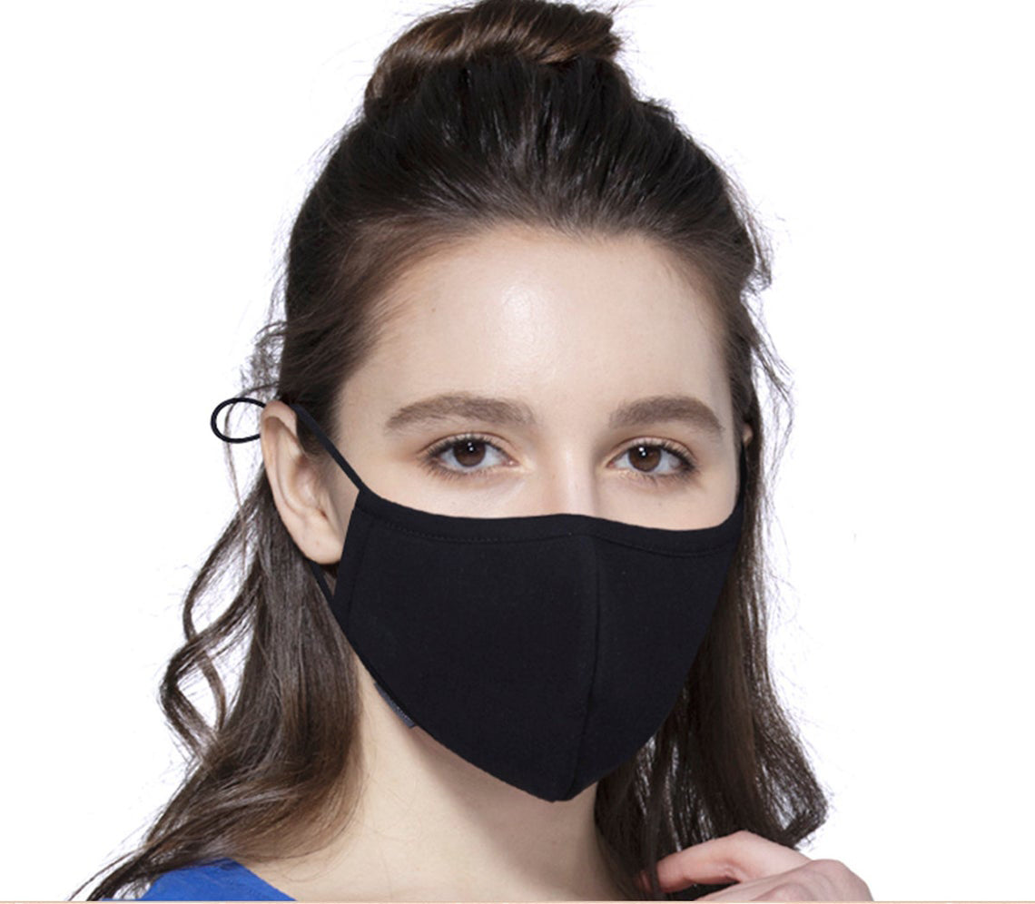 Pack of two (2) Soft Organic Cotton Protective Masks - Made in usa - Adjustable!- Ship same business day.