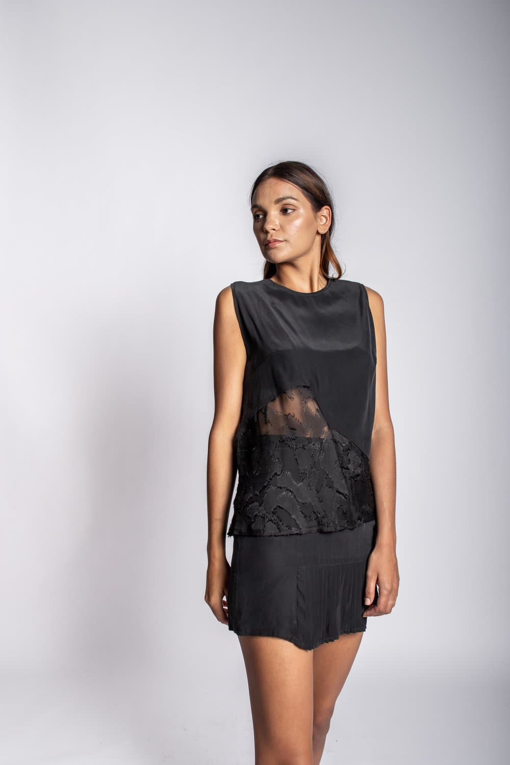 Silk Burnout Tank tops Karen Thomas NY