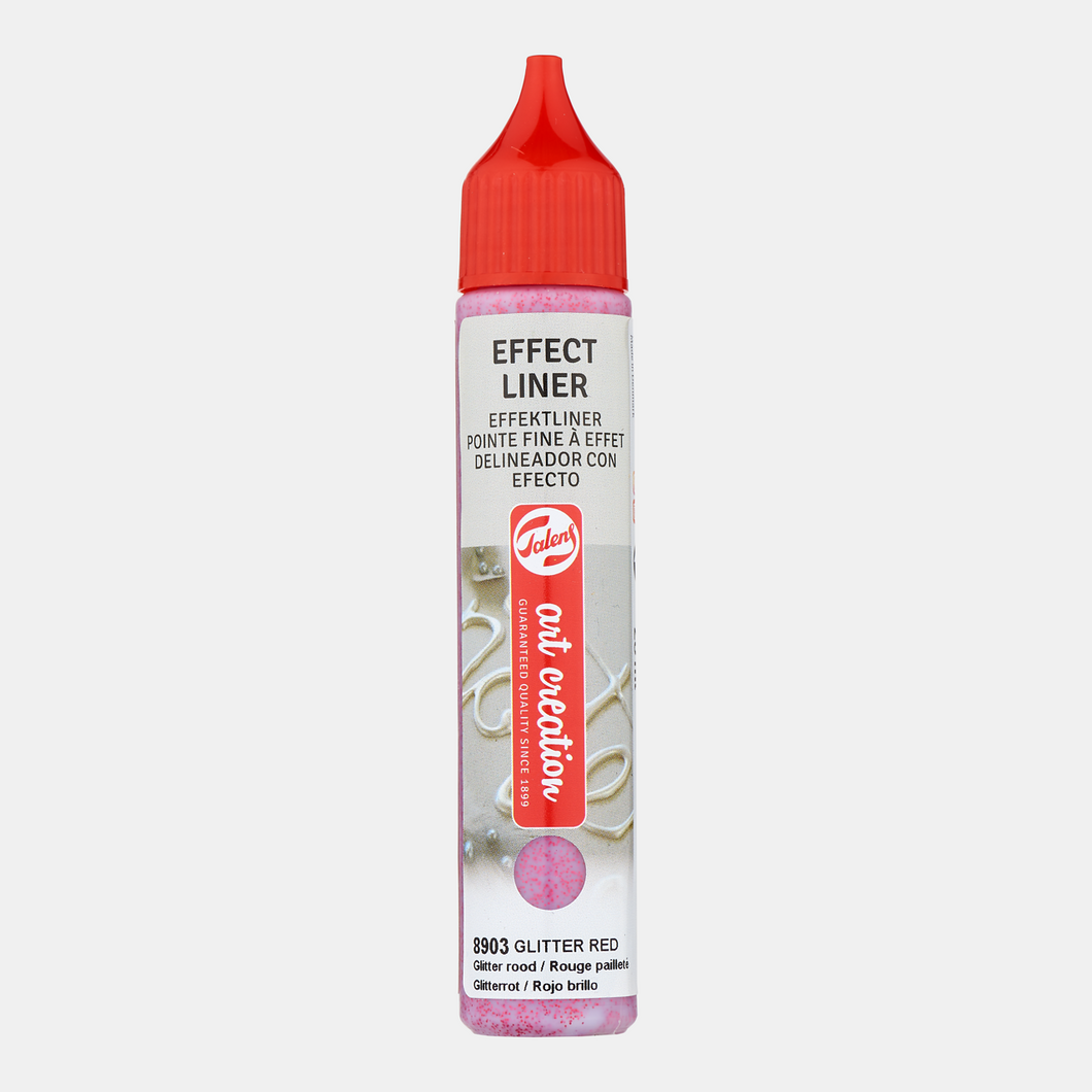 Effect Liner 28ml Glitter rood