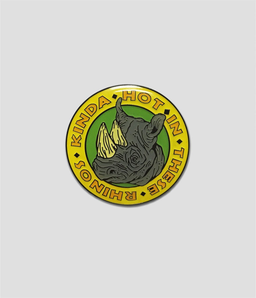 Two Ghouls Press - Safari Rhino Pin Yellow