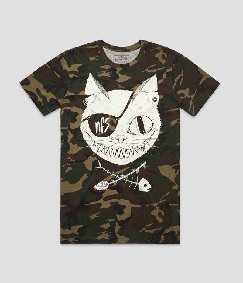 Cat Eye Patch Camo T-Shirt