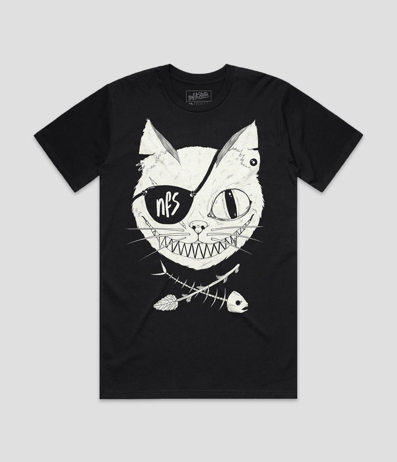 Cat Eye Patch Black T-Shirt