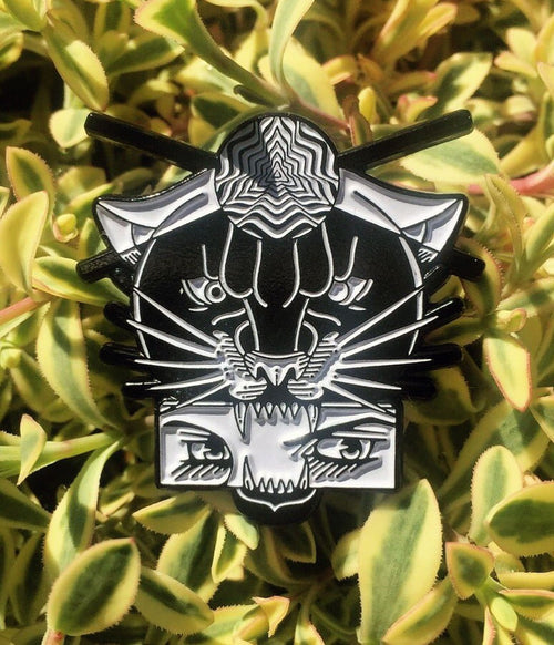Feral mind enamel pin badge
