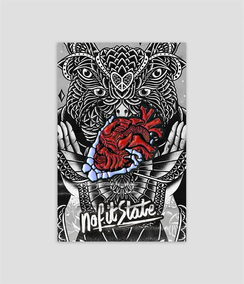 Heart Skull Enamel Pin Badge