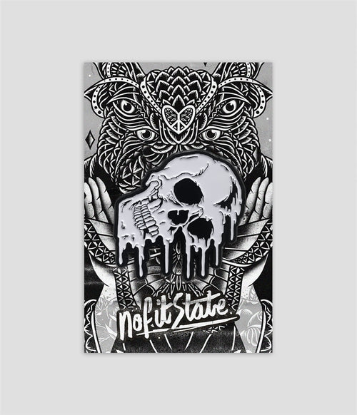 No Fit State Melting Skull logo enamel pin badge