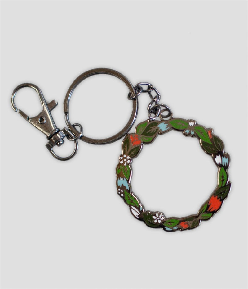 Stay Home Club - Wreath Keychain