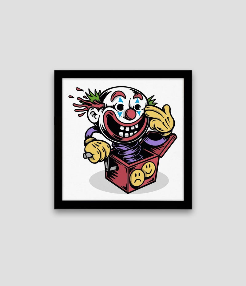 The Joker Square Printed Illustration